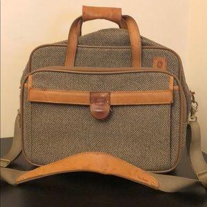 Vintage Hartmann Luggage tweed leather trim